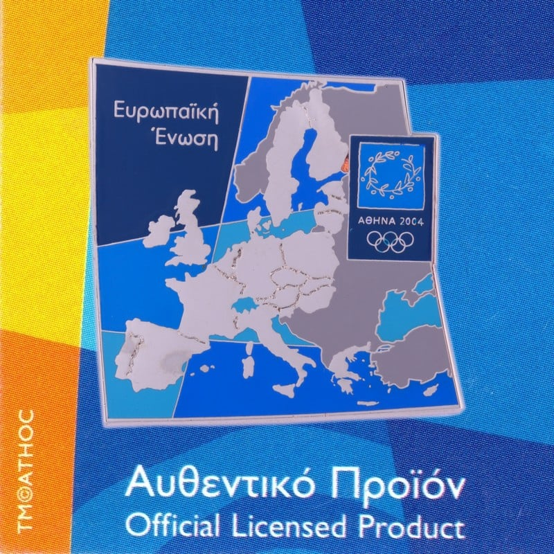 European Union Map Athens 2004 Olympic Pin | Athens 2004