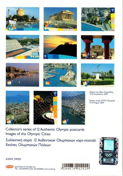 12 Olympic Postcards images of olympic cities series E