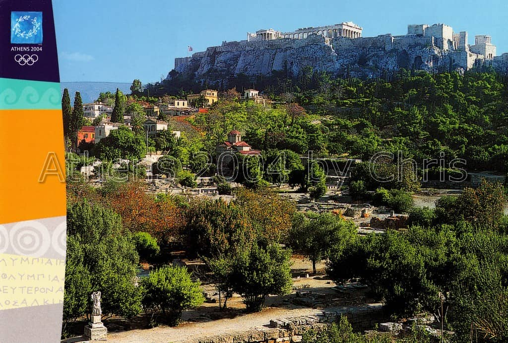 Acropolis general view postcard series G