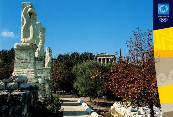 Ancient Agora Temple of Hephaestos postcard series d-12