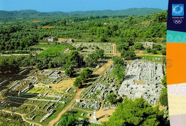 Archaeological site of Olympia postcard series F
