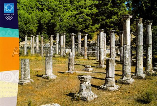 Columns of the Palaestra postcard series F