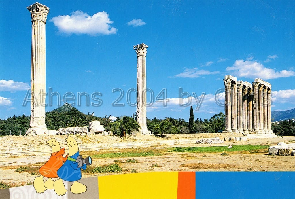 Columns of the temple of Olympian Zeus postcard series d-9