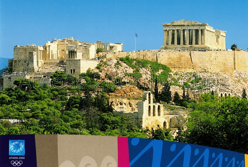 General view of Acropolis site postcard series G