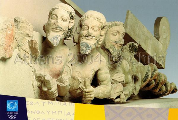 Pediment from the Acropolis postcard series G