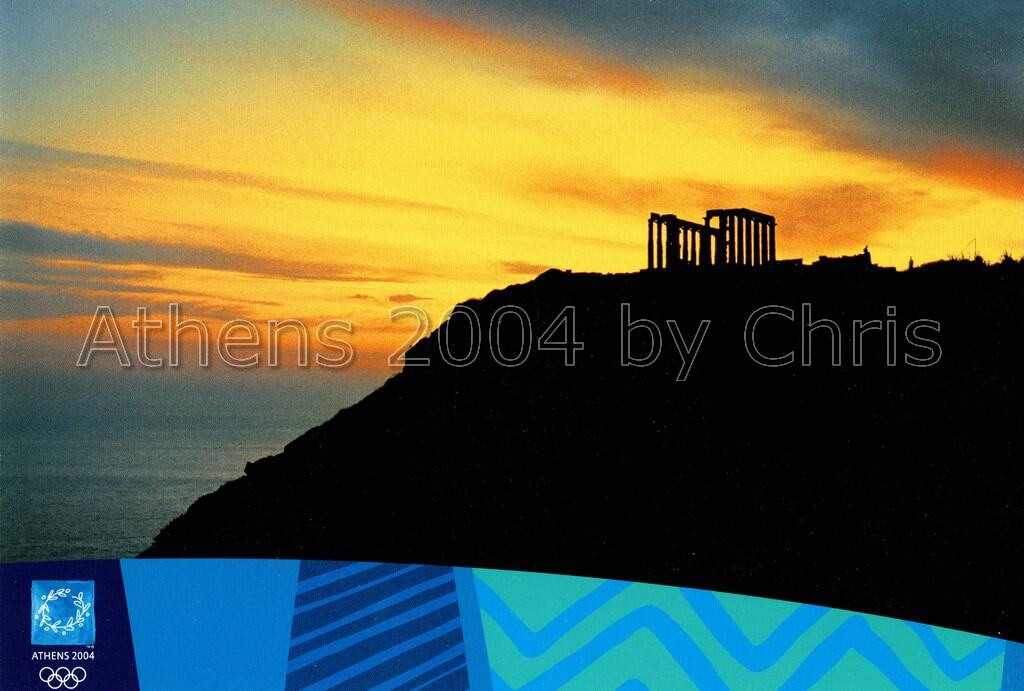 Sounio Temple of Poseidon postcard series E