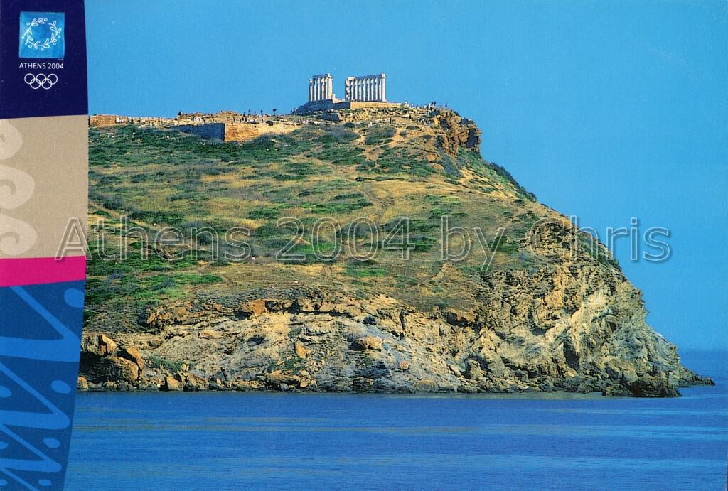 Sounio temple of Poseidon postacrd series d-2