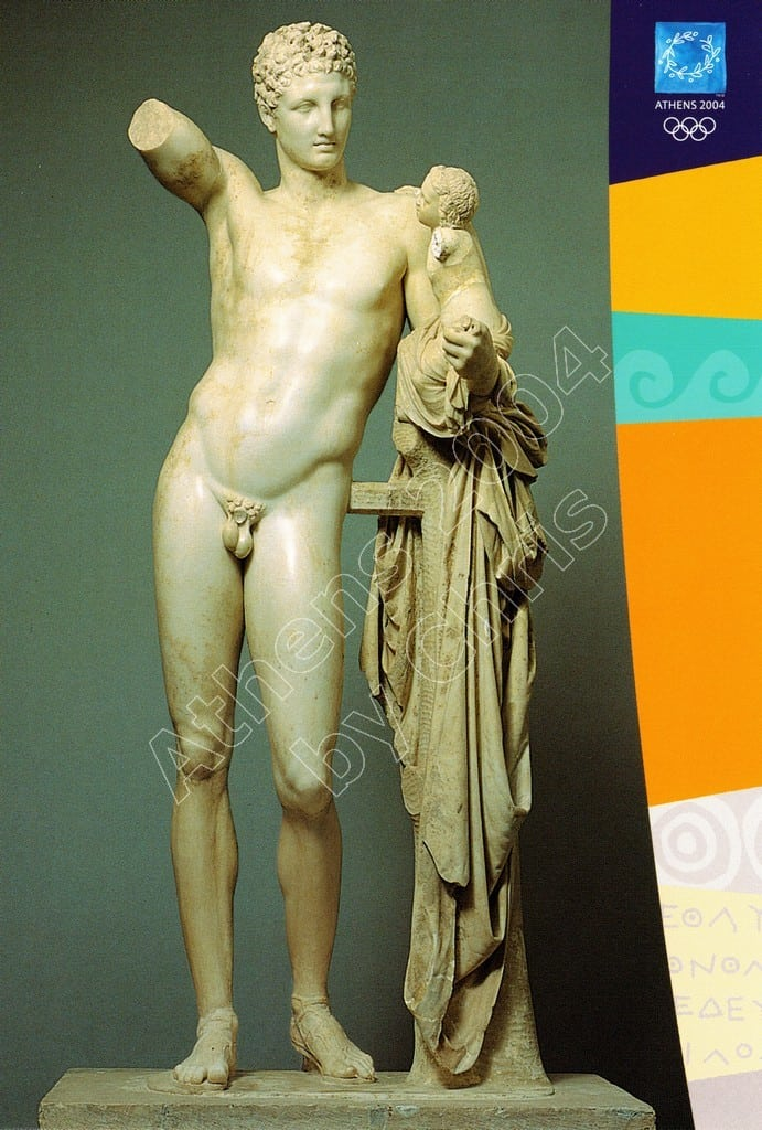 The Hermes of Praxiteles postcard series F