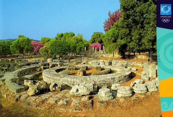 The surviving ruins of the Philippeion postcard series F