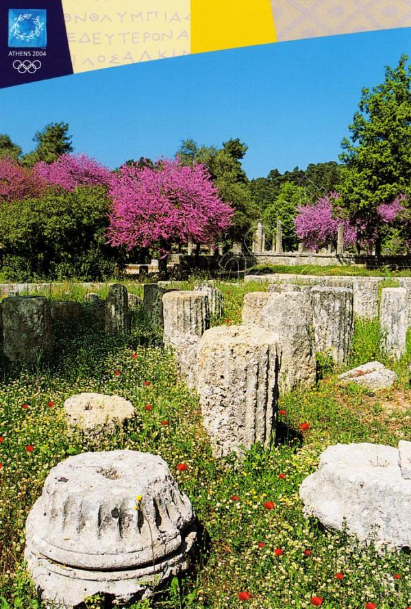 View from the archaeological site of Olympia postcards series F